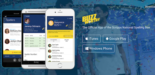 Buzzworthy - the official app of the Scripps National Spelling Bee